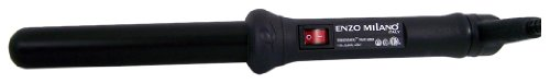 Enzo Milano Curling Iron, Black, 25mm Round (Round Barrel Flat Iron compare prices)