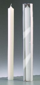 efco Candela in cera per feste e occasioni speciali, 30 cm x altezza 400 mm, colore: bianco 3509134