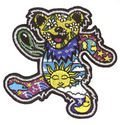 Grateful Dead - Dancing Bear By Dan Morris - Embroidered Iron on Patch (Original Version)