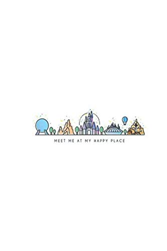 Disney World Orlando Halloween (Meet Me: At My Happy Place Vector Orlando Theme Park Illustration Notebook, Journal for Writing, Size 6
