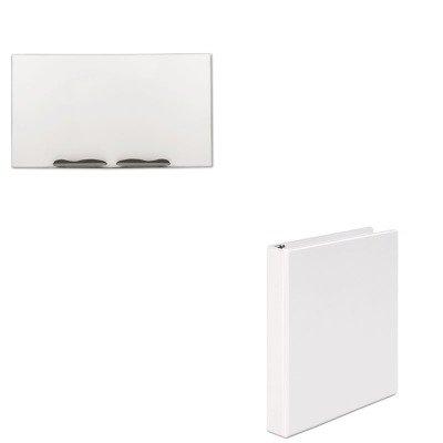 KITBLT2029GUNV20962 - Value Kit - Best-rite Ultra-Trim Magnetic Board (BLT2029G) and Universal Round Ring Economy Vinyl View Binder (UNV20962) by Best-Rite