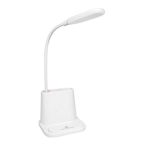 CSDM.AI LED Desktop Lamp, Multi-Function Touch USB Charging Reading Light with Pen Holder Eye Protection lamp for Student Desktop ()
