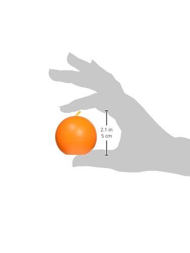 12 St/ück Zest Candle Kugelkerzen Orange 5 cm
