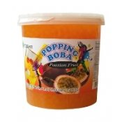 Passion Fruit Popping Boba (Four 7-lbs tubs) *CASE* by Unknown