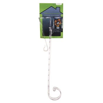 J&J's ToyScape Clear Plastic Adjustable Wreath Hanger (Height: 15-25 Inches) Christmas Decorations Door - Clear Hanger Wreath