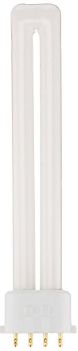 Sylvania 20318 (12-Pack) CF13DS/E/841/ECO 13-Watt Single Tube Compact Fluorescent Light Bulb, 4100K, 800 Lumens, 82 CRI, T4 Shape, 4-Pin 2GX7 Base