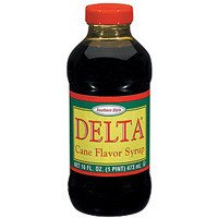 Delta Cane Flavored Syrup 16oz Bottle (Pack of 4) by Griffin Foods