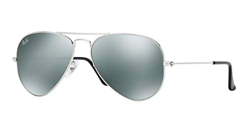 Ray-Ban Aviator Large Metal Sunglasses - Silver / Grey (Ray Ban Aviator Silver)