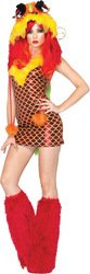 Women's Costume: Red Dragon-Small/Medium PROD-ID : 1424475 (Dragon Lady Red Costume)