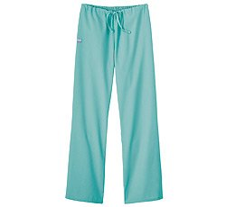 (Fundamentals by White Swan Women's Drawstring Flare Leg Scrub Pants X-Large Seaspray)