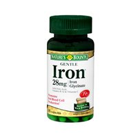 Nature's Bounty Gentle Iron 28 mg Capsules 90 Capsules (Pack of 2) For Sale