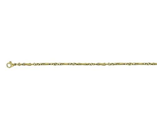 9ct or jaune Demi pour trombone 40,6cm/40cm Collier