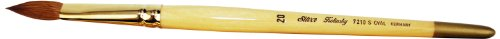 Silver Brush 7210S-20 Silver Kolinsky Sable Short Handle Excellent Quality Brush, Oval, Size 20 by Silver Brush Limited