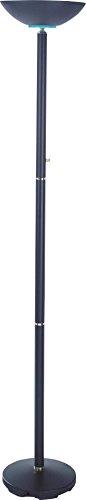 Milton Greens Stars Sawyer Torchiere Floor Lamp, 72-Inch, Black