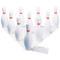 Champion Sports Bowling Set: Rubber Ball & Plastic Pins for Training & Kids Games