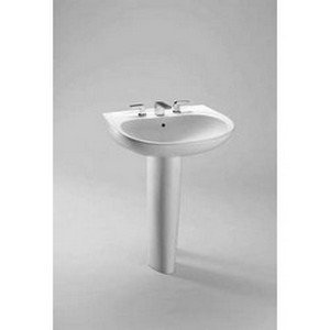 TOTO Lt242G#01 Prominence 1-Hole sanagloss Lavatory, Cotton (Cotton Prominence Bathroom Sink)