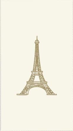 BlueInk Studios Golden Eiffel Tower Paper Guest Towels Buffet Hostess Napkins, Ivory, 40 ct ()