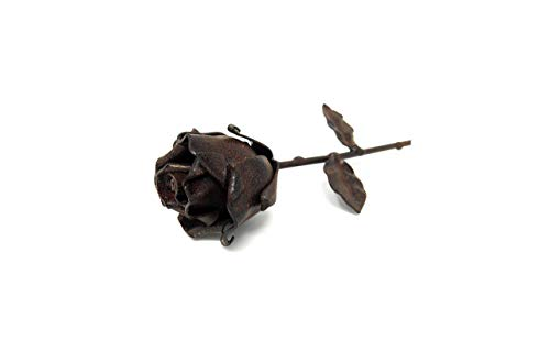 - ♥ Eternal Rose Hand-Forged Wrought Iron Rusted