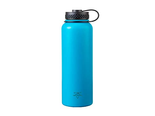 Monoprice Vacuum Sealed Wide Mouth Water Bottle - Blue - 40oz. | BPA Free, Insulated, SweatProof, Hot and Cold - Pure Outdoor Collection