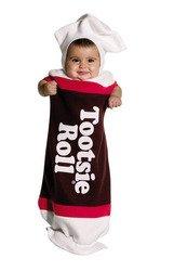Tootsie Roll Costume Infant (Tootsie Roll Bunting Costume - Newborn)