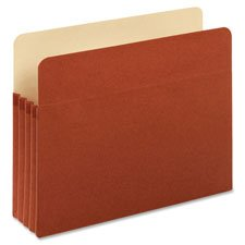 Globe-Weis Red Rope Expanding File Pockets, 3 1/2