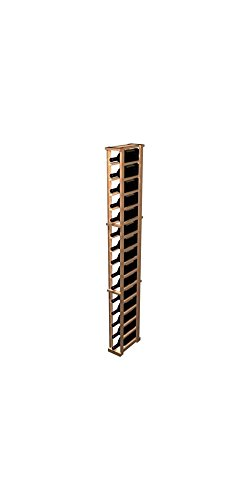 Designer 1-Column Magnum Wine Rack (Premium Redwood - Dark Walnut (Walnut Wine Tower)