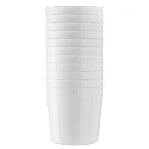 [10 Count 86 Oz Combo] Basix Round White Food Storage Deli Container With Lids, Perfect For Meal Prep Soup, Ice Cream, Freezer, Dishwasher And Microwave Safe