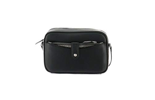 Gili Leather Crossbody Bag Removable Pouch Black New A297759 from G.I.L.I.
