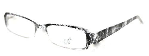 Jill Stuart Modified Rectangle Plastic Reading Glass. JRS3 Grey - Glasses Stuart Jill