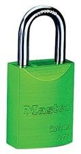 MASTER LOCK 6835GRN 5 Pin Green Safety Lockout Padlock Keyed Diffe (Price is for 6 Each/Box)