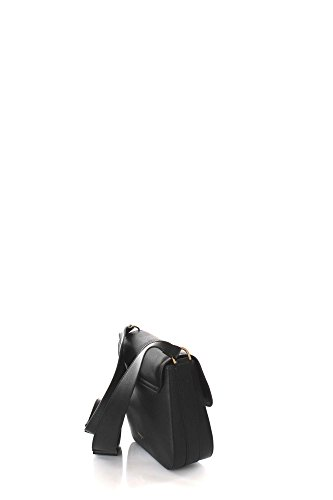 Patrizia Pepe Glam Leather Easy Lock Sac à bandoulière noir