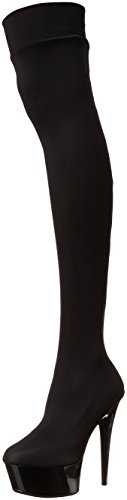 - Ellie Shoes Women's 609-Ski Stiletto Stretch Lycra Thigh High Boot, Black, 12 M US