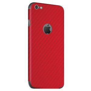 BodyGuardz - Carbon Fiber Armor, Protective Skin for iPhone 6 Protective Skin (Red)