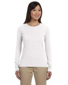 - econscious Womens Organic Cotton Classic Long-Sleeve T-Shirt (EC3500) -WHITE -M