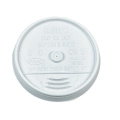 Dart 12UL White Sip Thru Lid - 12 Series (Case of 1000) -