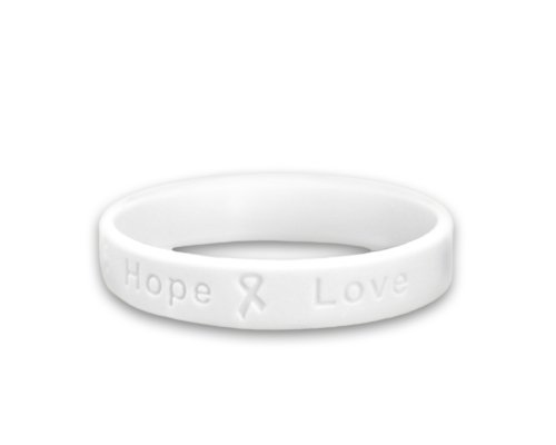 Lung Cancer Awareness Silicone Bracelet - Adult Size (Retail)