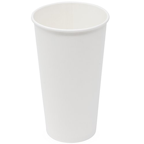 Simply Deliver 32 oz Paper Cold Cup, Single-Wall, Double-Sided Poly-Coated, White, 600-Count