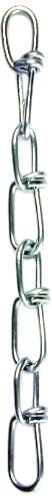 Chain Link Gauge (L.H. Dottie DL1 Double Loop Jack Chain, Locked Link, No.12 Gauge, Bright Galvanized)