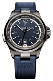 Victorinox Swiss Army Blue Dial Stainless Steel Rubber Quartz Men's Watch - Blue Watch Dial Army Swiss