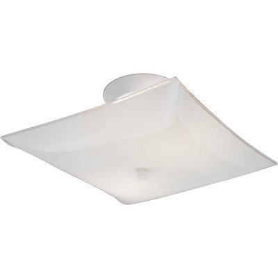 (Forte Lighting 6001-3 Traditional 2LT Semi-Flush, White Finish with Satin White Glass Shade by North Coast Lighting )