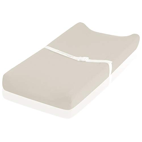 Flannel Changing Pad Cover - Fits Perfectly on 16 x 32' Changing Table Pad - 100% Cotton - Perfect for Winter & Cold Weather - Beige