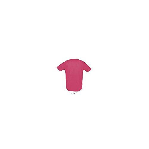 SOLS-SPORTY-T-shirt Sportiva Traspirante Uomo-Colore CORALLO FLUO-Taglia 3XL