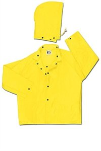 Navigator, .22mm, PU/Nylon, Jacket, W/Detach Hood, YELLOW - 550JX2 - Mcr Safety Navigator