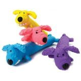 Multipet International 61035 6'' Latex Loofa Dog Toy Assorted Colors