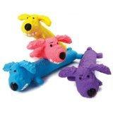 Multipet International 61035 6'' Latex Loofa Dog Toy Assorted Colors