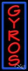 Gyros Business Neon Sign - 32 x 13 x 3 inches - Made in USA