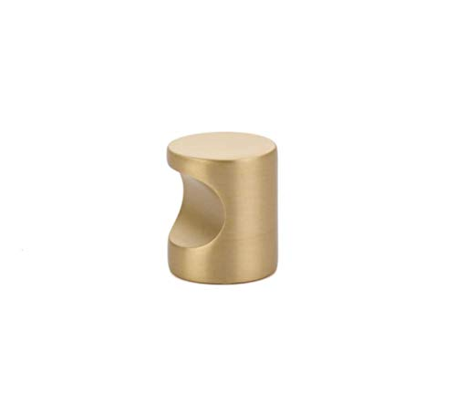 - Luxe Satin Brass Modern Cabinet Knob and Handles Pull Furniture Kitchen Door Knobs and Pull Handles (Whistle Knob)