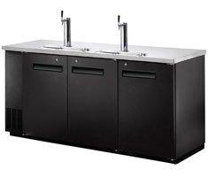 """72"""" Beer Keg Dispenser Kegerator Refrigerator w/ Stainless Top + 2 Taps! …"""