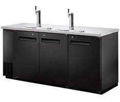 72″ Beer Keg Dispenser Kegerator Refrigerator w/ Stainless Top + 2 Taps! …