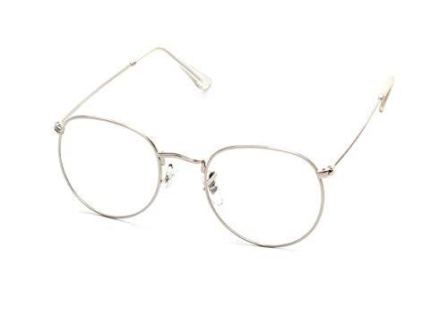 4466723901 Full metal frame retro round flat mirror frame glasses C3  Amazon.ae ...